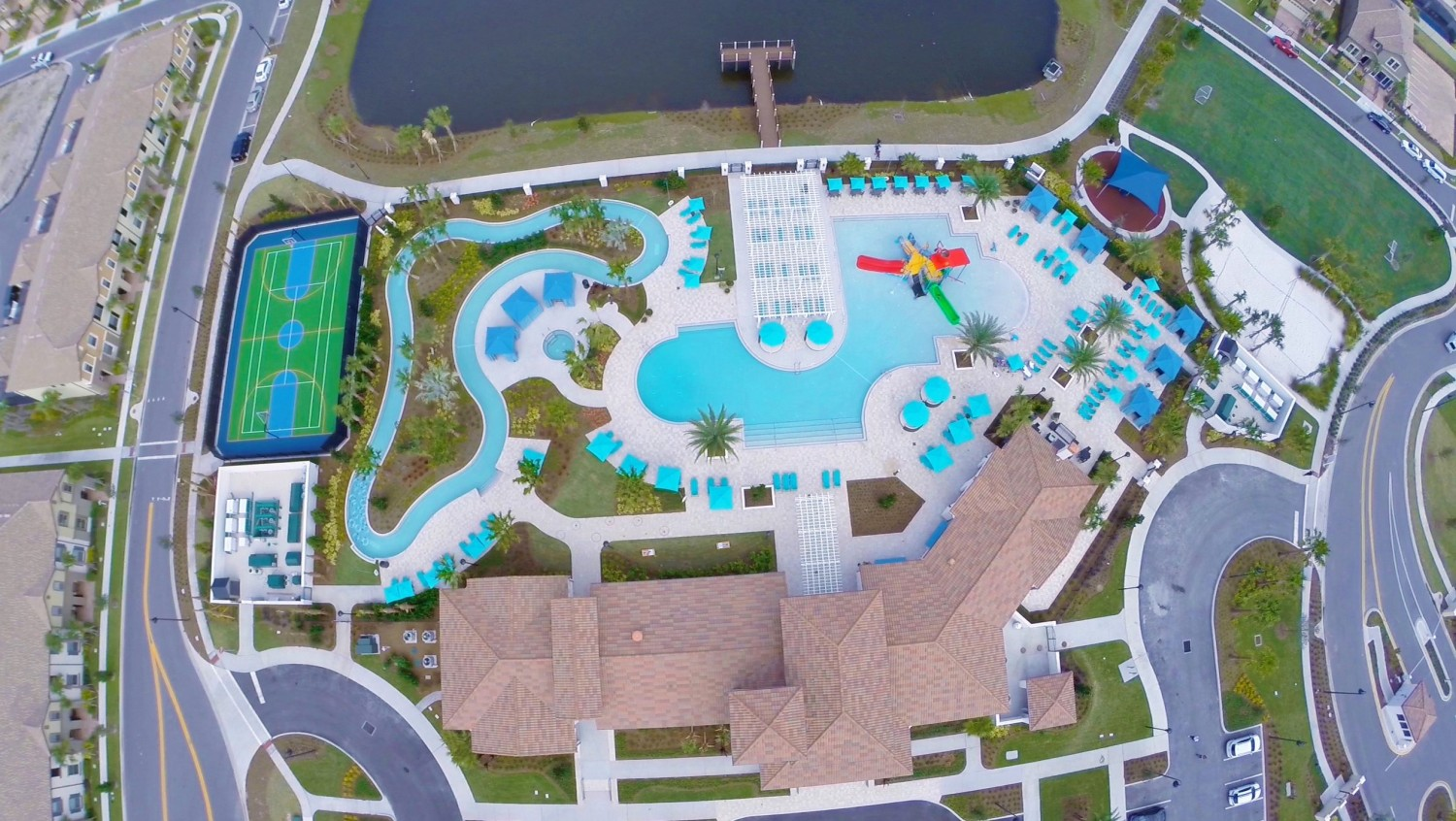 Ground + Aerial Videography | Community Windsor at Westside Amenities | 407-734-0102
