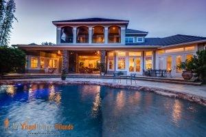 Best Real Estate Photography - Twilight Backyard