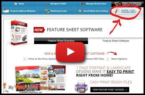 Property feature sheets with MVL Virtual Tours