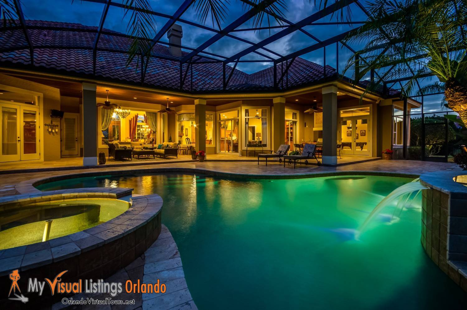 Twilight Photos of Back pool - Professional Photography by MVL