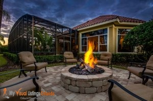 Twilight Photography of Fire Pit - Professional Photography by MVL